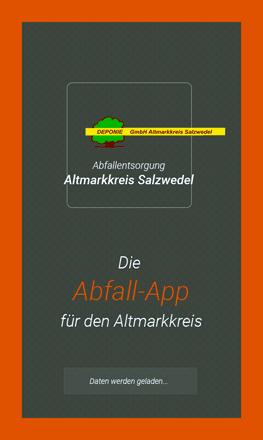 Bild: Startseite der Abfall-App des Altmarkkreis Salzwedel