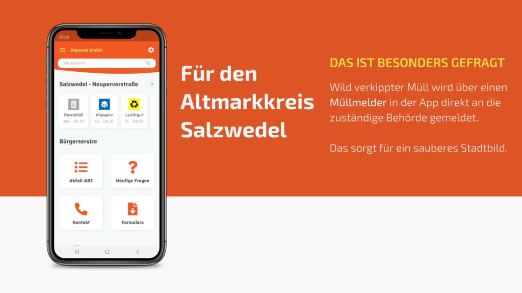 Die Abfall-App für den Altmarkkreis Salzwedel, die Deponie Gardelegen freut sich über ein sauberes Sadtbild und zahlreiche App-Nutzer.